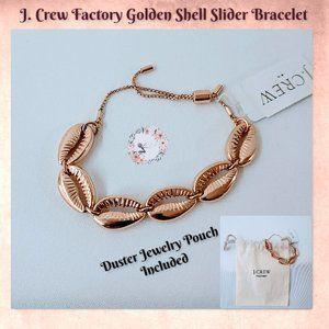 🆕J. Crew Factory Golden Shell Slider Bracelet